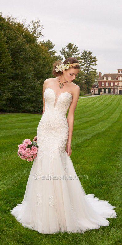 Camille La Vie Tulle Lace Plunge Wedding Dress #sscollective ...