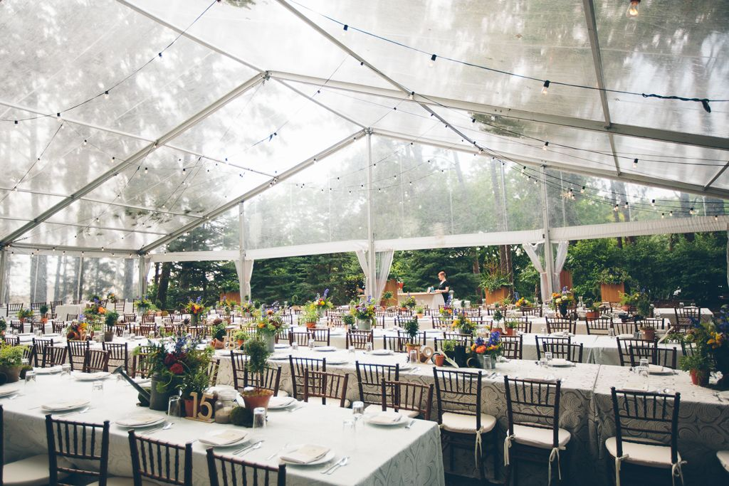 Nebraska Midwest Wedding Clear Top Tent (With images ...