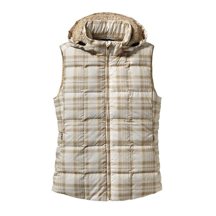 Patagonia Women\'s Down With It Vest - Wooly Plaid: Raw Linen WRL-645