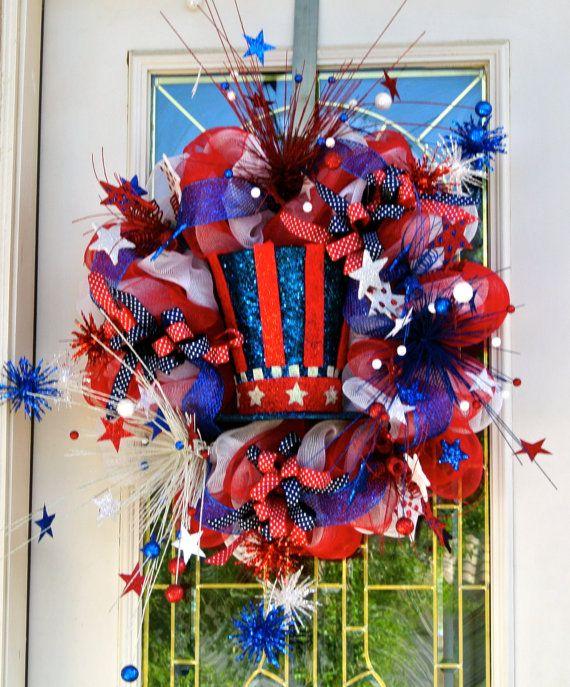 4th Of July Pom Pom Wreath