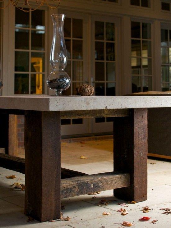 Porch Concrete Table Top Design, Pictures, Remodel, Decor And Ideas