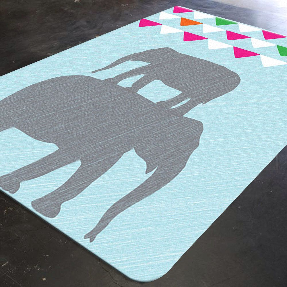 Elephant Rug Nursery Decor Rugs For Playroom