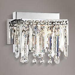 Possini Euro Chrome Hanging Crystal Vanity Light  Lights Entrancing Crystal Vanity Lights For Bathroom Inspiration Design