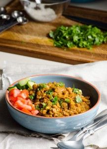 Green Lentil Curry With Green Lentils Coconut Milk Tomato