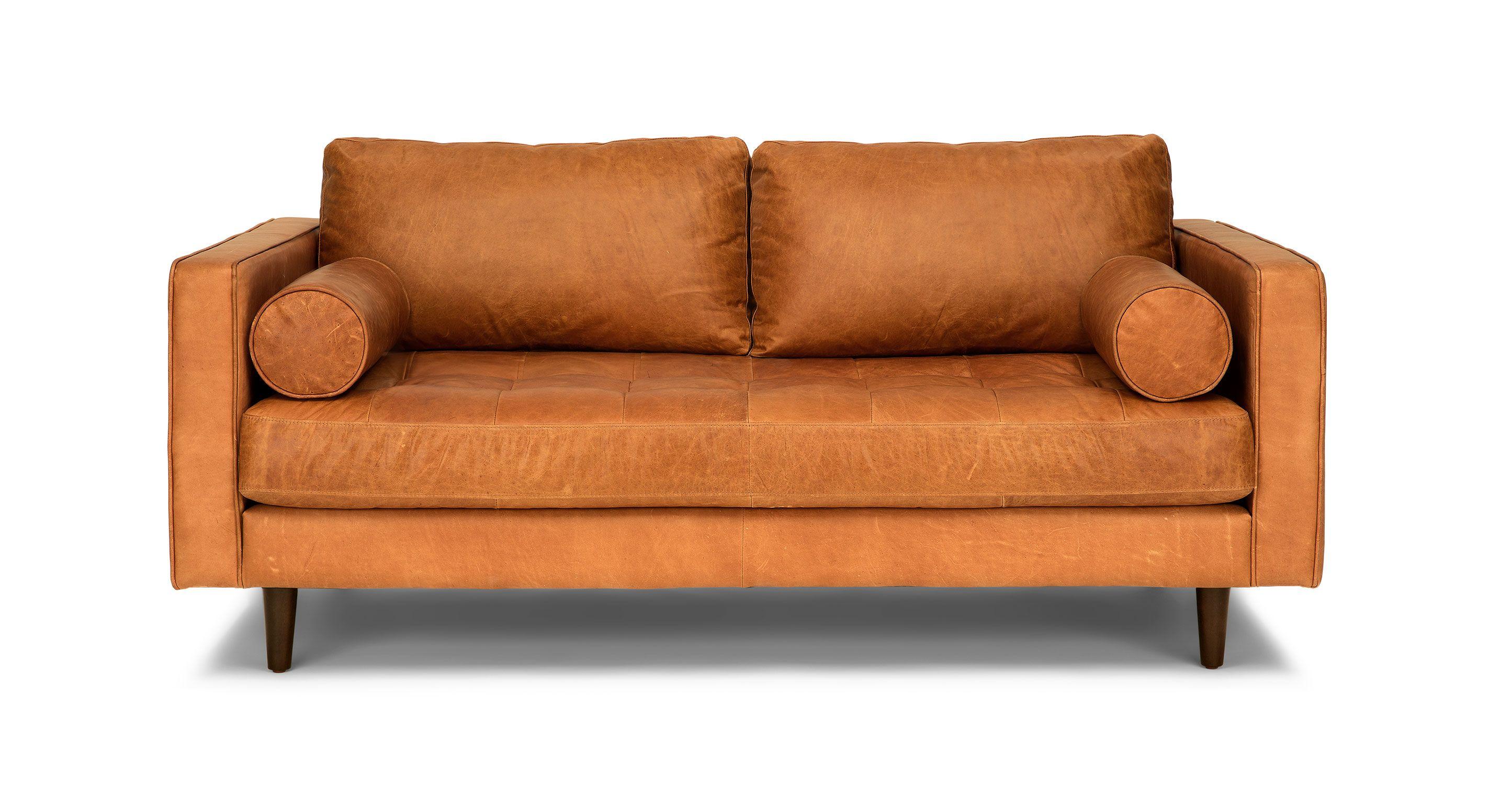 Best Tan Brown Leather Sofa 72 Wide Italian Leather 640 x 480