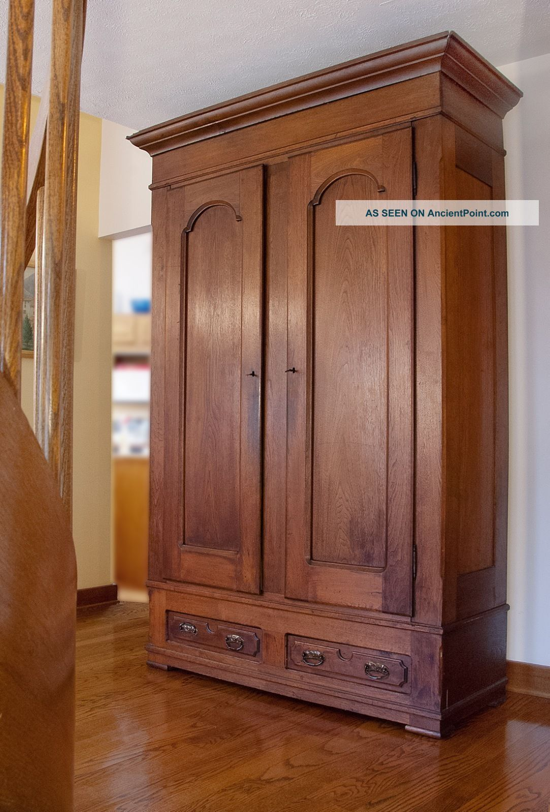 antique walnut knock  down armoire  photo  house ideas  - antique walnut knock  down armoire  photo