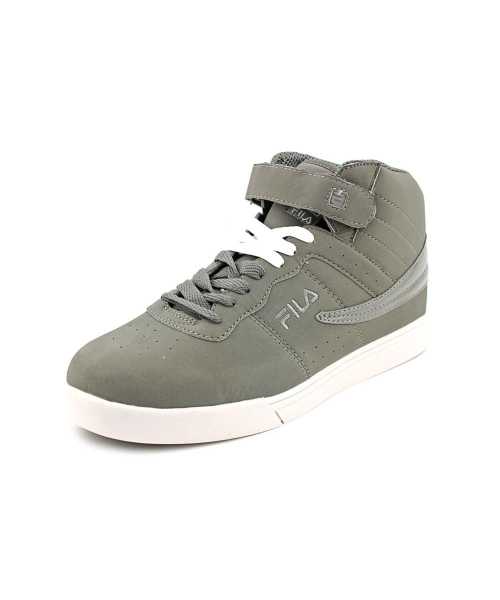 New Trendy Fila Vulc 13 Round Toe Synthetic Sneakers Grey For Men On Sale