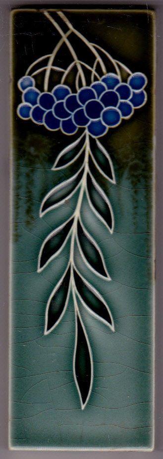 Jugendstil Fliese Kachel Art Nouveau Tile WESSEL Art Nouveau - Wessel keramik fliesen