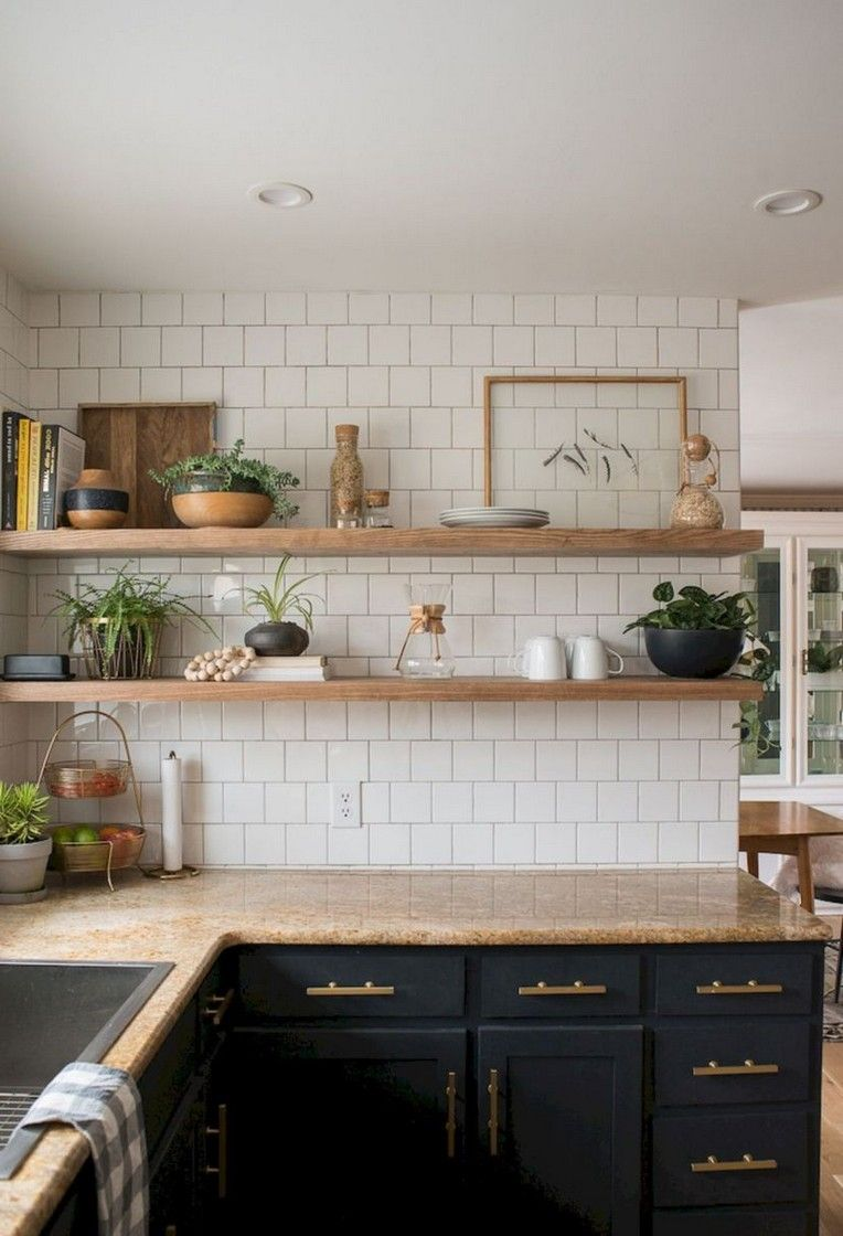 Awesome Kitchen Open Shelving Decor