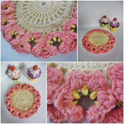 <3 Lindo Coaster com Pétalas Florais no Bloguito: Vem ver! :) http://recantodasborboletas-simoninha.blogspot.com.br/