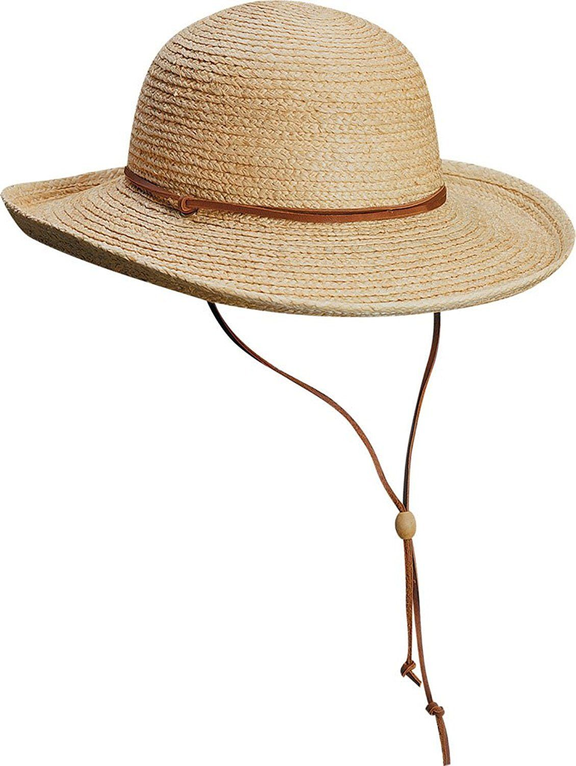 d43c47df567 Scala LR113 Raffia Braid Sunhat with Leather Chin Cord in 2018 ...