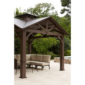 Allen And Roth Gazebo Lowes Outdoor Spaces Exteriors