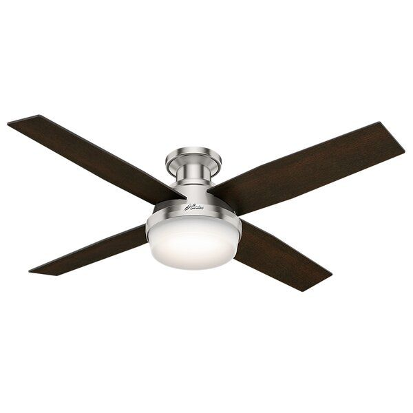 52 Dempsey 4 Blade Ceiling Fan With Remote Light Kit Included Ceiling Fan With Light Ceiling Fan Ceiling Fan With Remote