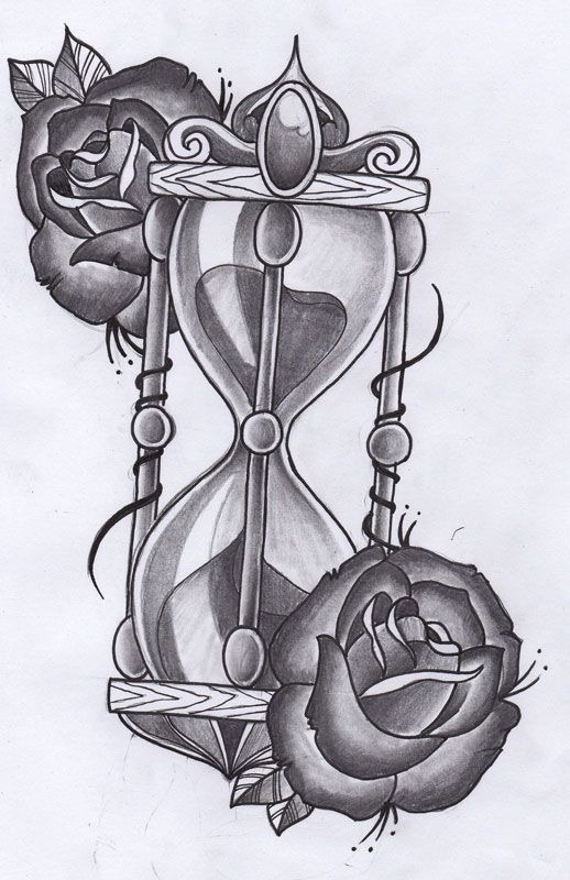 hourglass tattoo design by. Black Bedroom Furniture Sets. Home Design Ideas