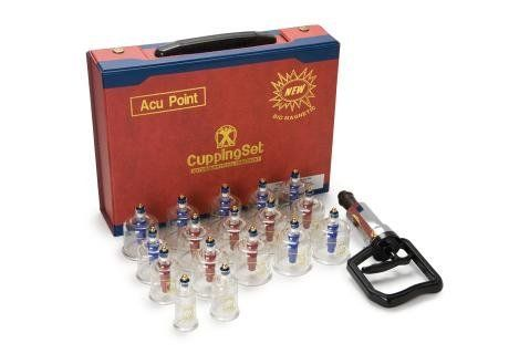 Acu Point 16-cups Biomagnetic Cupping Therapy Kit by Acu Point. $45.99. Acu Point. Cupping Kit. Biomagnetic. Cupping Set. Massage. The best deep-tissue massage available, massage cupping therapy is safe, useful and easy to learn. Cupping is an ancient method of causing local congestion. A partial vacuum is created in cups placed on the skin that draws up the underlying tissues. When the cup is left in place on the skin for a few minutes, blood stasis is formed and loc...