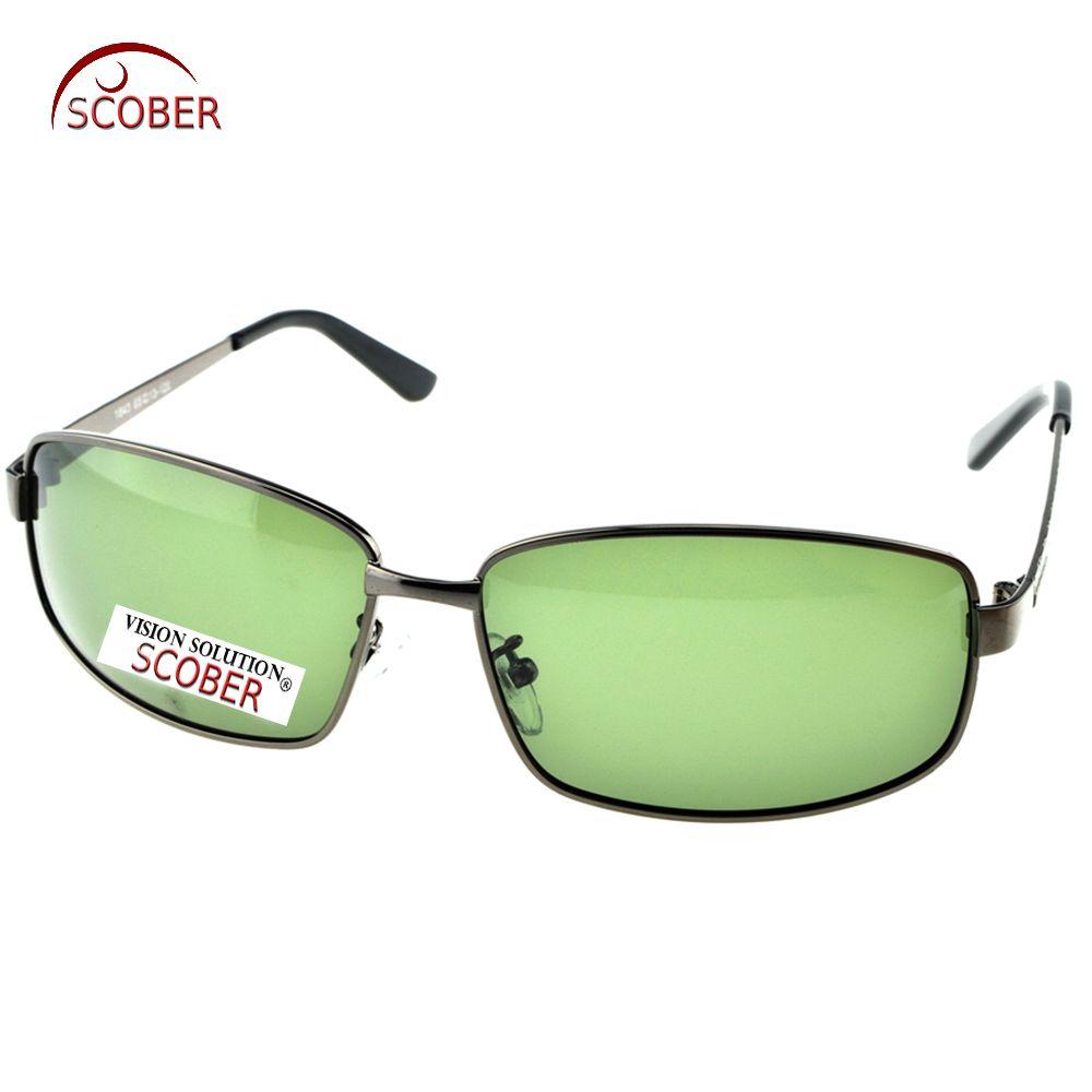 d111bff6e6 SCOBER   Large Full Rim Masculine Men Designer Polarized Sunglasses Custom  Made Nearsighted Minus Prescription Lenses -1 To -6 Riding glasses