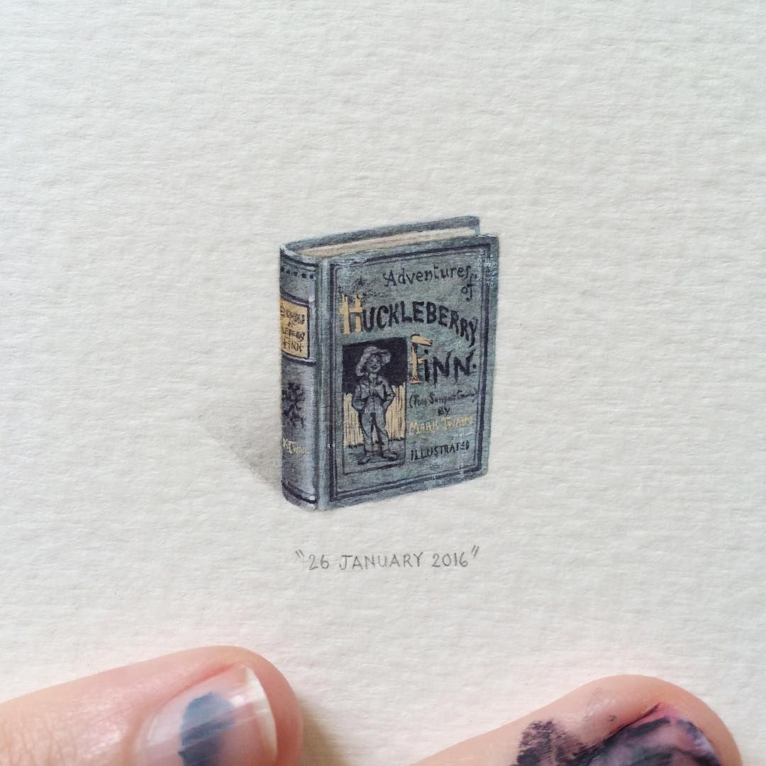 Watercolor book covers - Lorraine Loots Paintings For Ants Amazing Miniatures Lots Of Book Covers