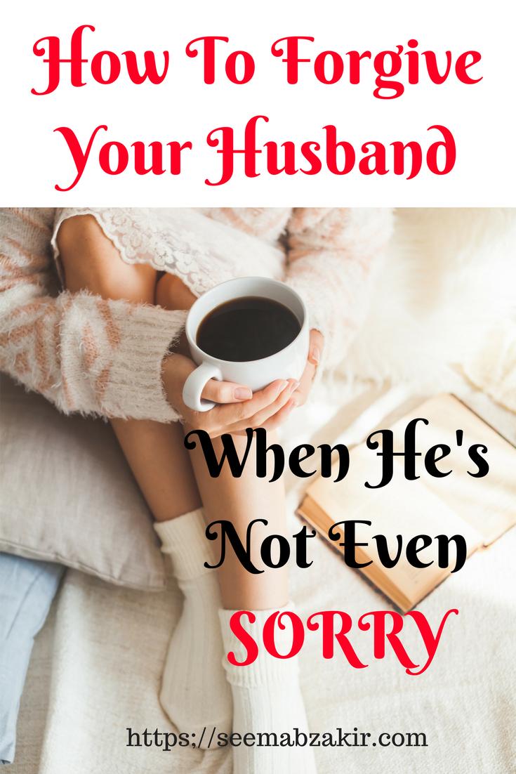 How to forgive a husband
