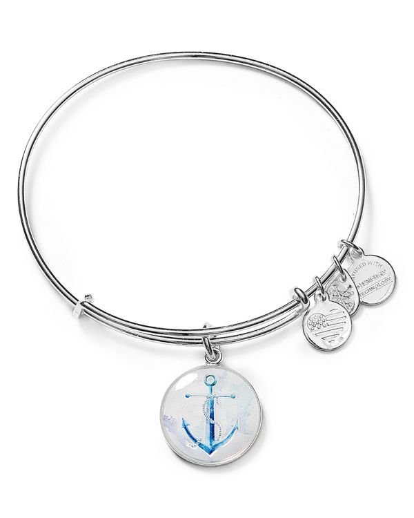 Alex And Ani Adds A Nautical Touch To Its Stackable Bangle With An Ilrated Anchor Charm Symbolizing Strength Inspiration