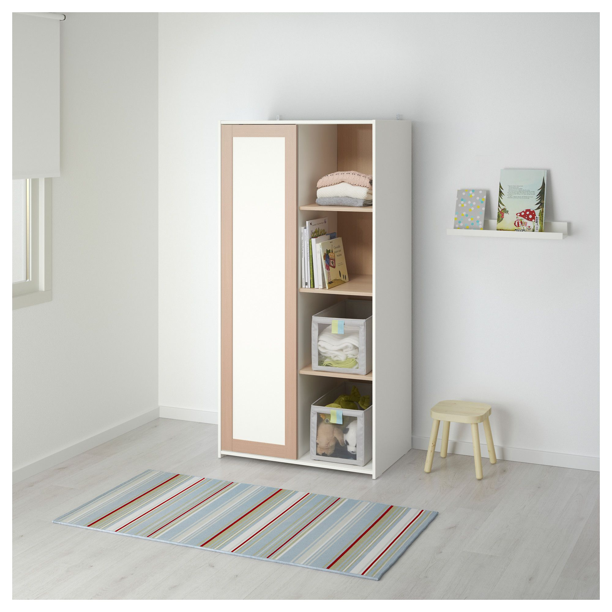 ikea sniglar wardrobe beechwhite 81x50x163 cm the wardrobe fits perfectly into small spaces as
