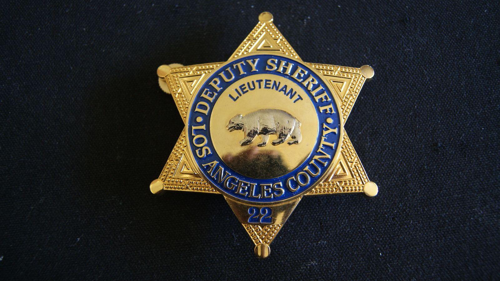 La County Sheriff S Department Lieutenants Badge La County Sheriff Badge County Sheriffs