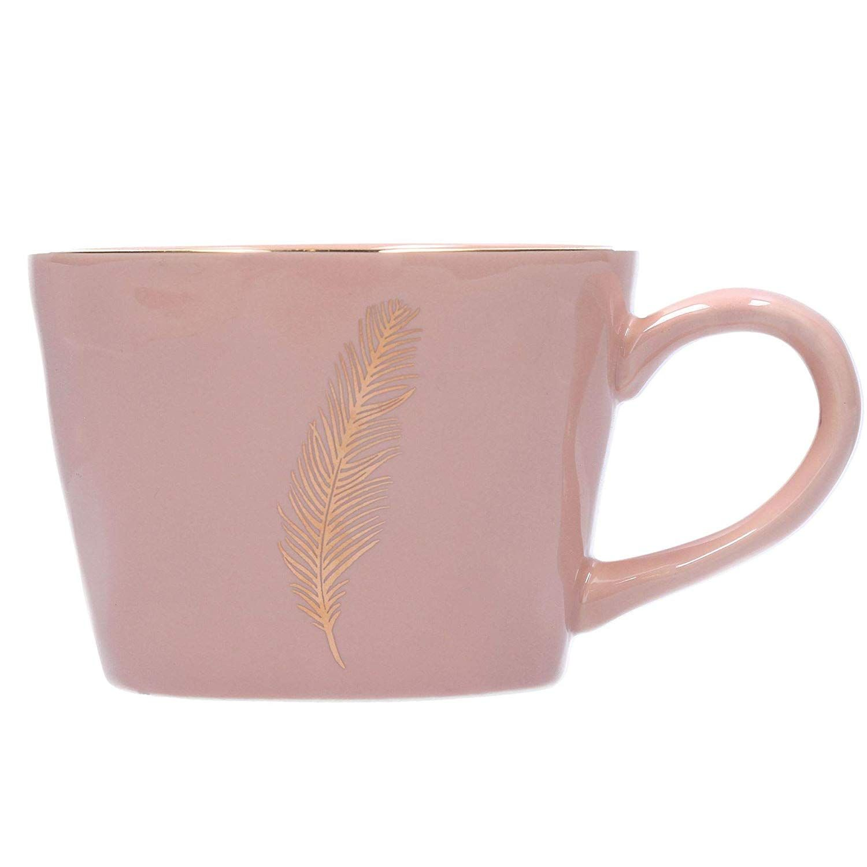 Gisela Graham Grey Feather Mug