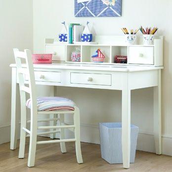 White Super Clean Childrens Desk Study Table Designs Kids