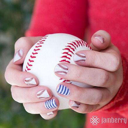 jamberry nail art designs, Opening Day Baseball Nail Art Ideas for Summer  sport teams, - Jamberry Nail Art Designs, Opening Day Baseball Nail Art Ideas For