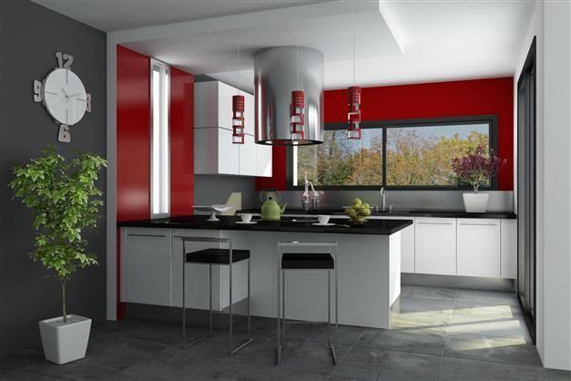 Harmonie intense pour la cuisine #rouge #gris Zolpan Intensément