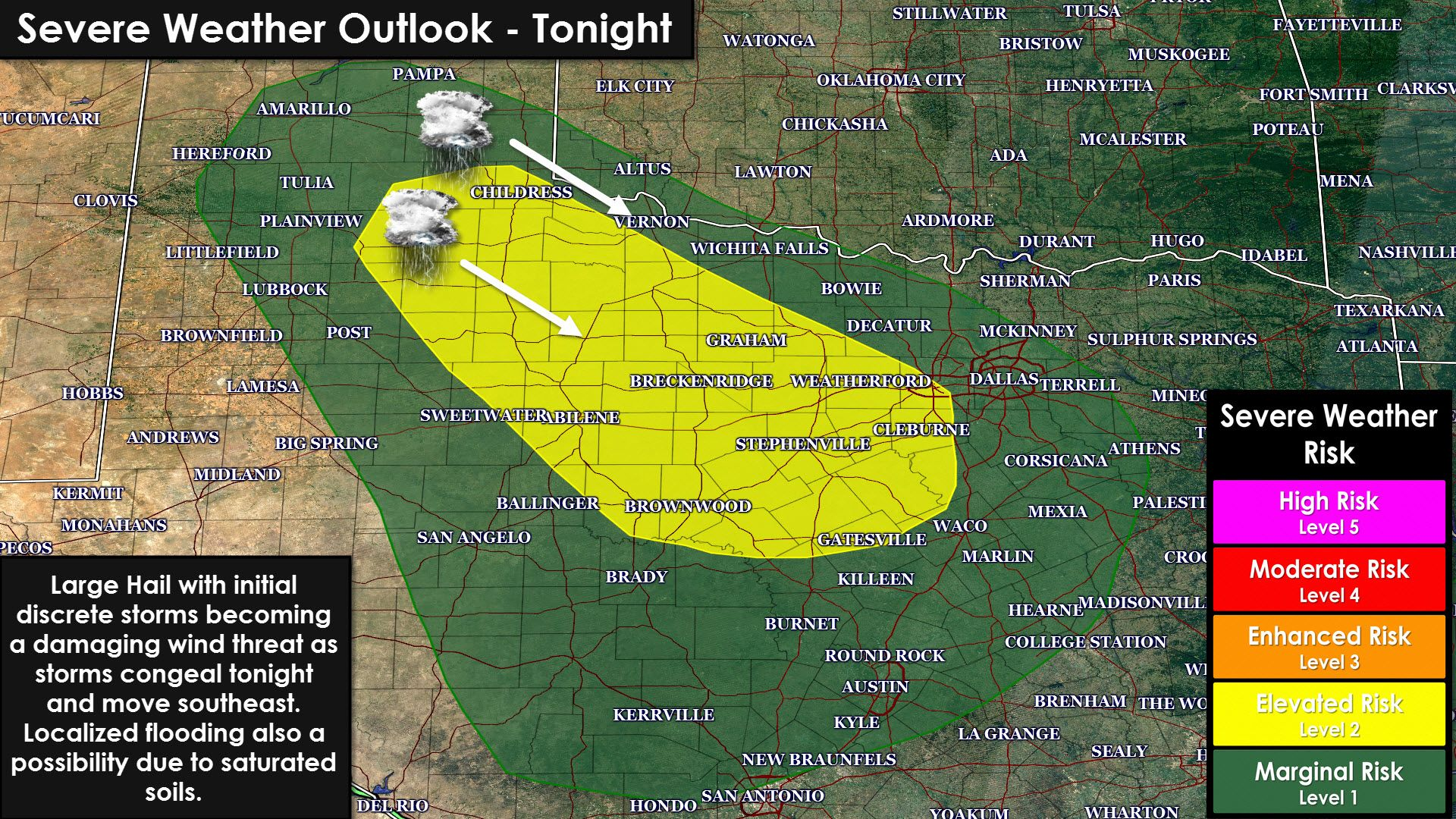 Another Cluster Of Storms Expected Tonight Some Severe Once Again Texas Storm Chasers Texas Storm Storm Prediction Center Storm