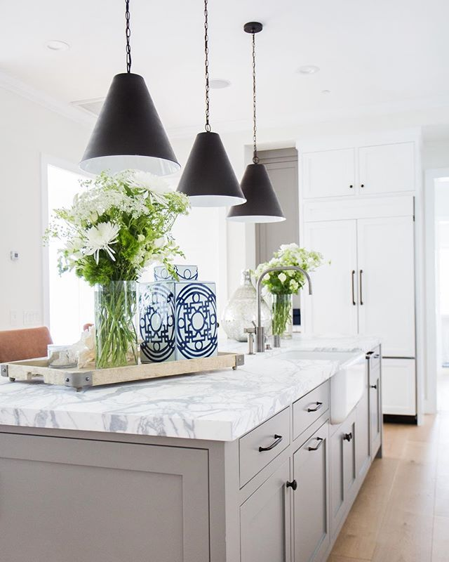 Gray Island, Cone Penant, Marble Slab, Blue And White