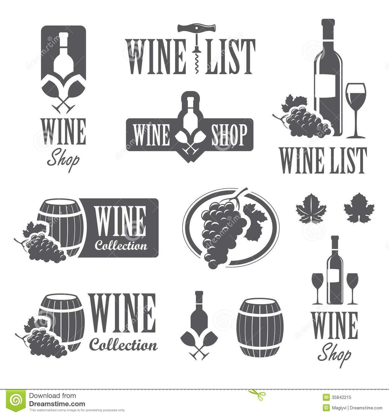 Vino Vektor Butylka Wine Logo Design Vintage Wine Label Wine Label Art