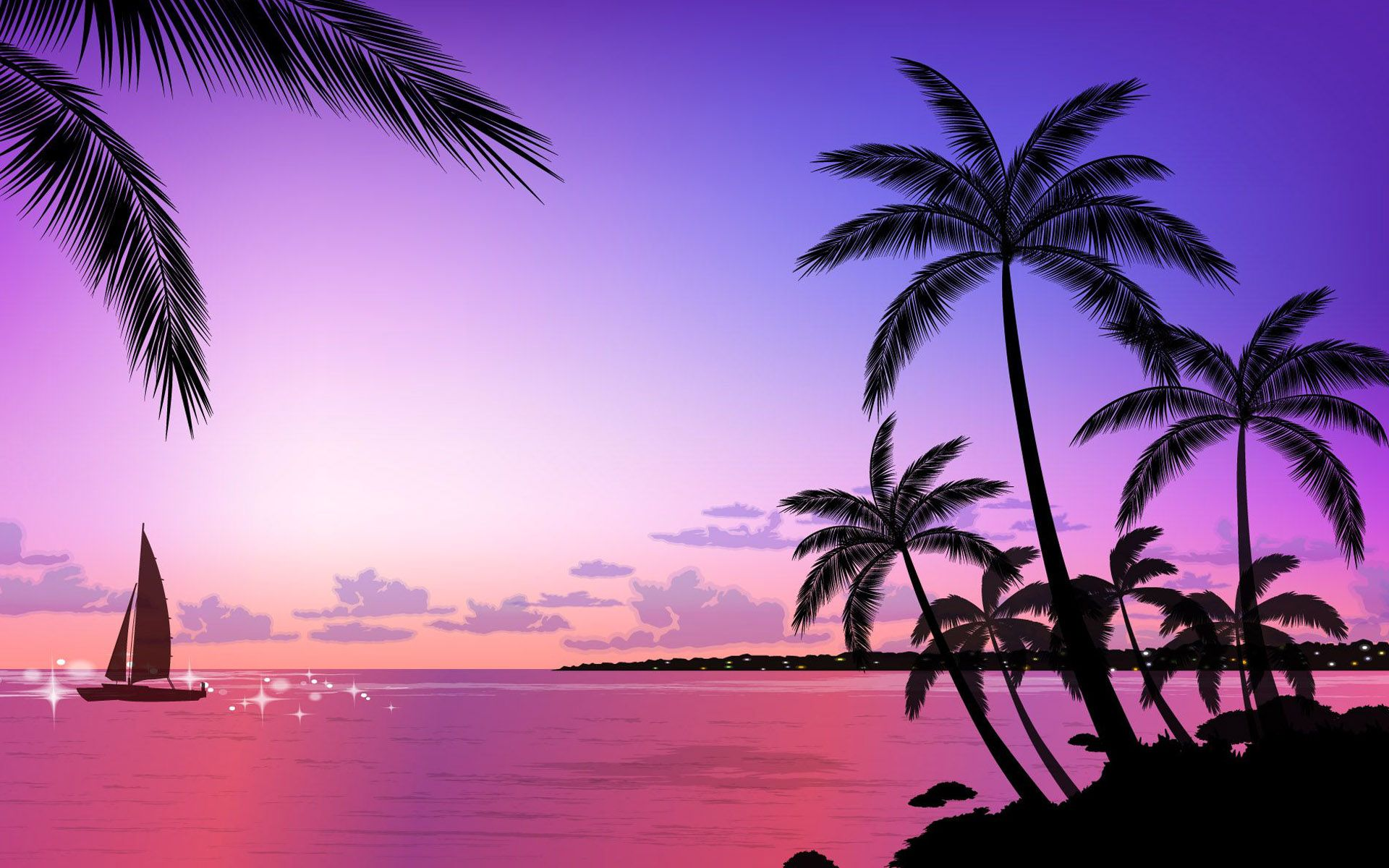 Tumblr Beach Vector Backgrounds 7091 1920 X 1200 Wallpaperlayer