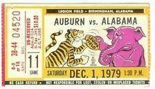 1979 Alabama Verses Auburn