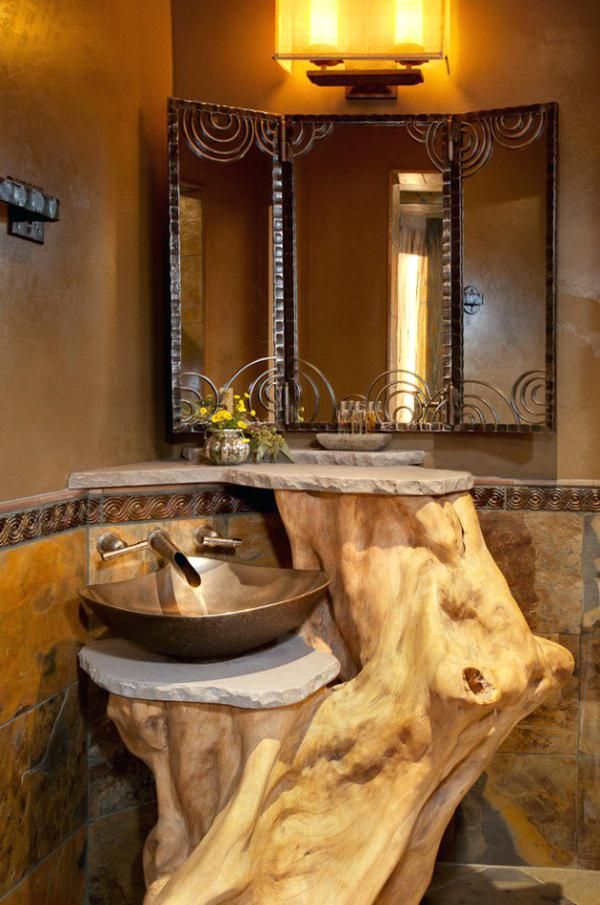 Rustikale Badezimmer Design Ideen Stein Landlicherscheunen Dusche Landlichebadezimmer Waschtisch H Rustic Bathroom Sinks Rustic Bathrooms Rustic Bathroom