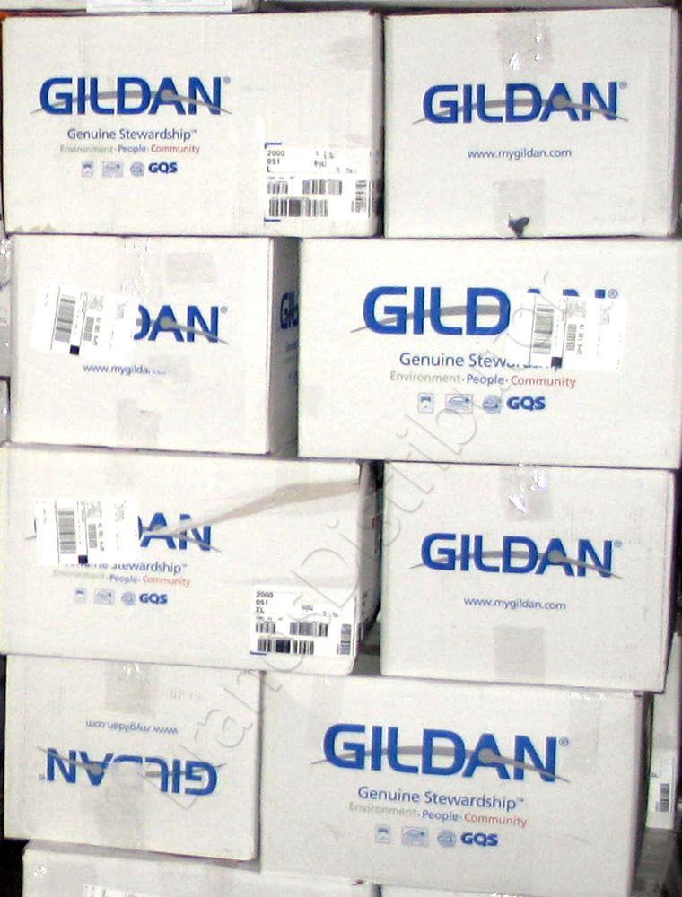 120 Gildan T-SHIRTS BLANK BULK LOT in Colors or 125 White Plain S-XL