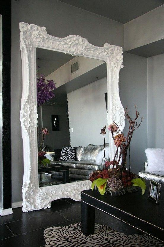 Large mirror frame by darinageo   Dream Home   Pinterest   Walls ...