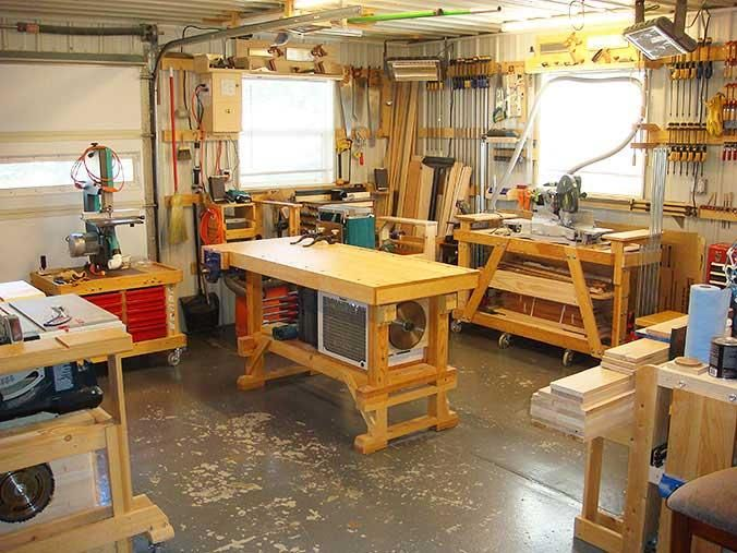 Good Home Workshop Design Ideas #2 - Small Woodworking Shop Design ...