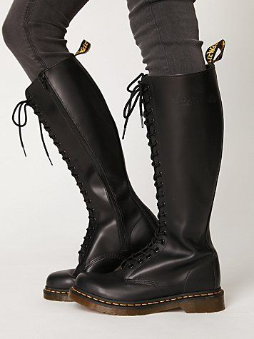 d97cd03392971 Dr Martens, 20 eye lace up, Tall, Inner Zip, Rubber Air Cushion ...