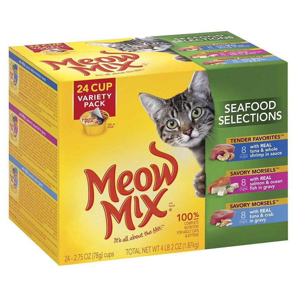 Meow Mix Seafood Selections Variety Wet Cat Food 2 75oz 24pk With Images Cat Food Reviews Cat Food Wet Cat Food