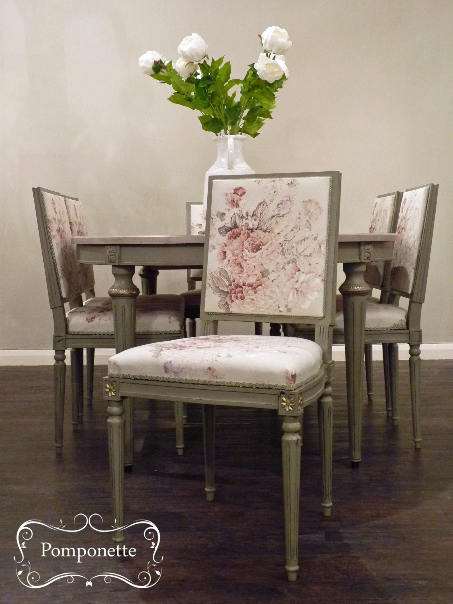 French Extendable Dining Table With Six Upholstered Chairs The Elegant Combination Of Anniesloanhome Chateau