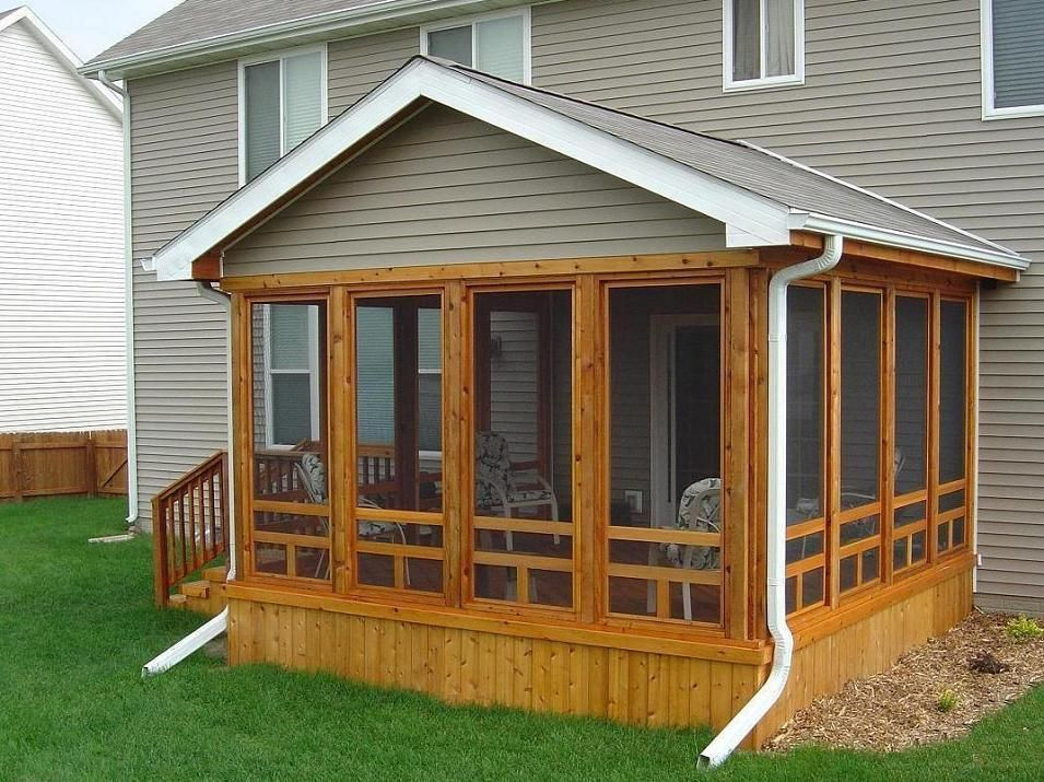 screened in porch ideas cedar screen porch ames exterior view 2 - Outdoor Screened Porches
