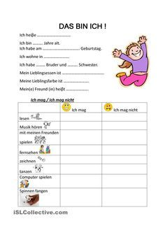 DAS BIN ICH ! in 2018 | Downloads | Pinterest | Kindergarten ...