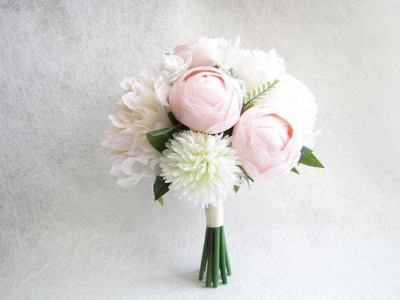 Blush Peonies Bridal Bouquet, Peach Peonies Bridesmaid Bouquet, Wedding Bouquet, Poeny Wedding Bouquet, Blush Floral Bouquet