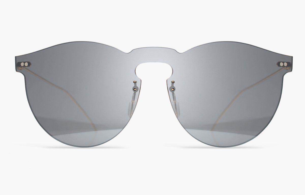 Frameless illesteva sunglasses with a wide curved bridge