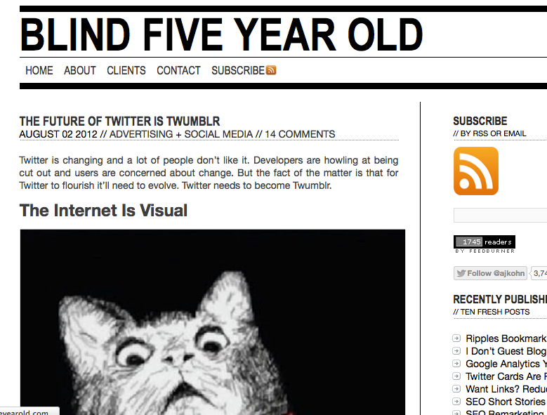 Worst SEO Title Ever • Blind Five Year Old