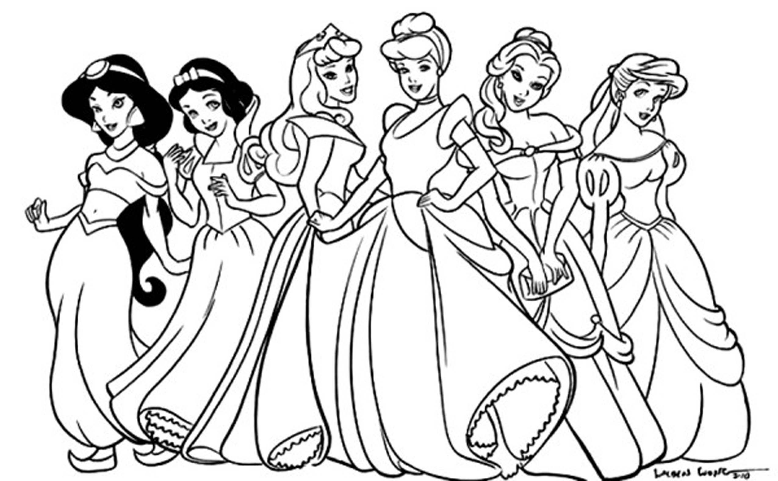 Disney Princess Printable Colouring Pages Disney