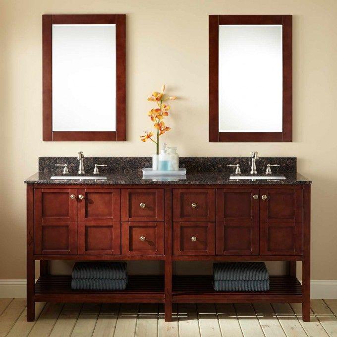 72 Bowman Vanity For Rectangular Undermount Sink Dark Brown