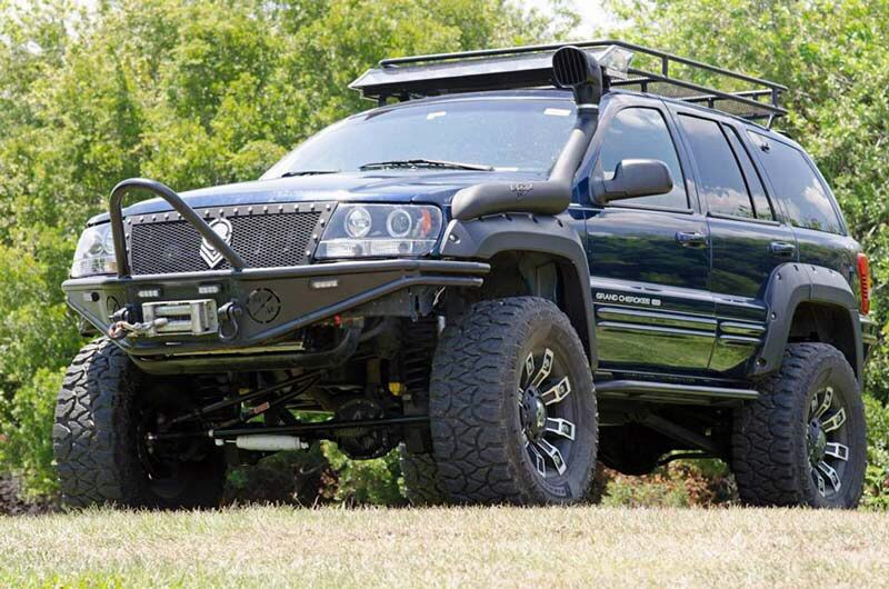 Jeep Wj Lifted With Custom Bumper And Grille Jeep Grand