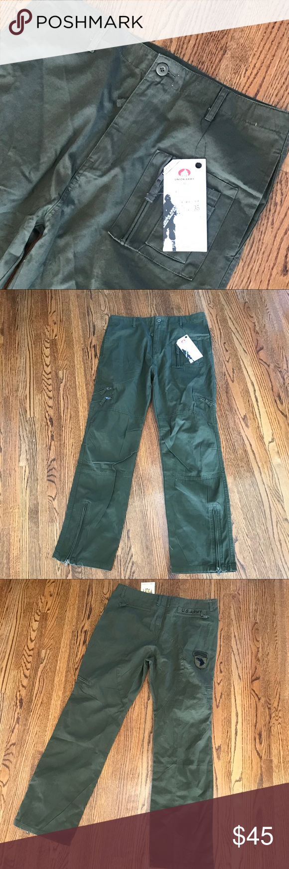 783fc45635d27 Army fatigue pants green Army pants. Size 35. Zips at ankle. Measurements  to come. 100% authentic. New with tags. Pants Cargo